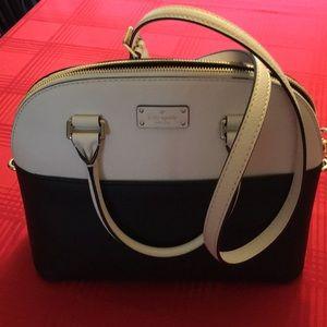 Kate Spade White/Black Crossbody Bag